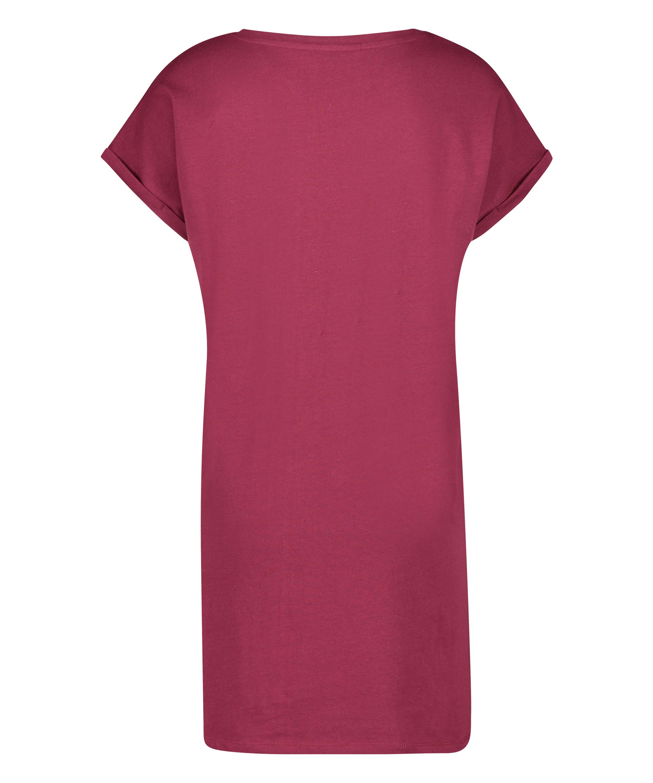 Camisón de cuello redondo, Rojo, main