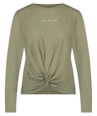Jersey Nudo de manga larga, Verde
