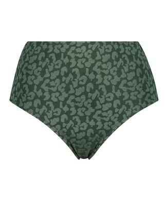 Braguita de bikini de tiro alto Tonal Leo, Verde