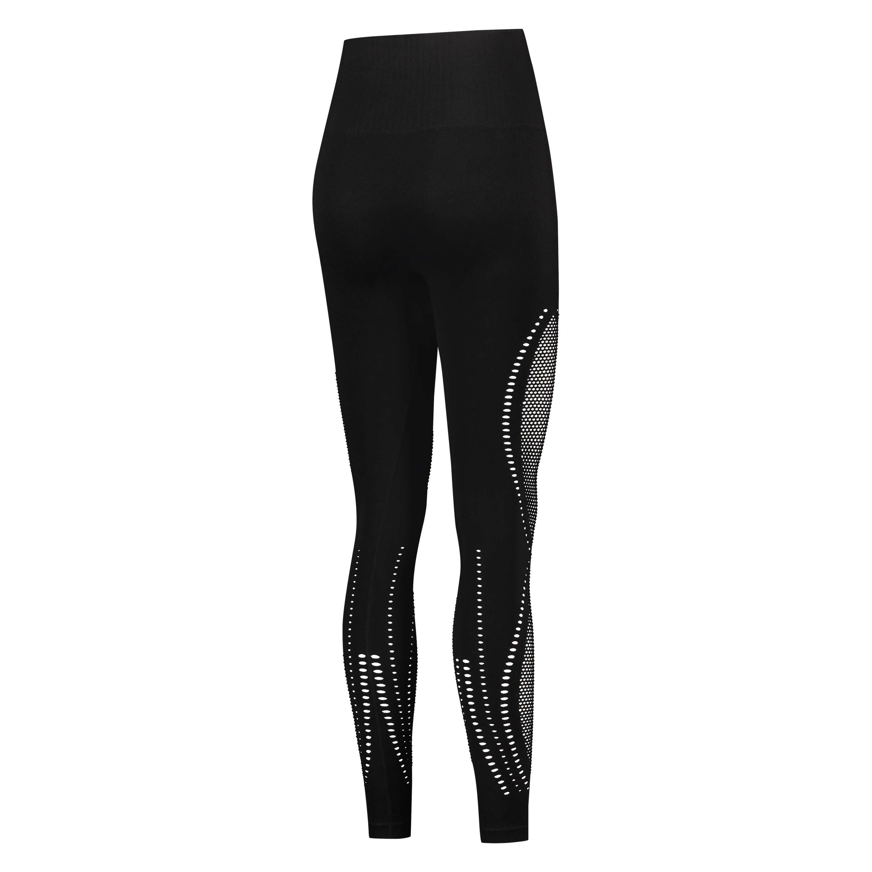 Leggings deportivos de talle alto y sin costuras de HKMX Comfort, Negro, main