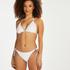 Top de bikini de triángulo Maldivas, Blanco