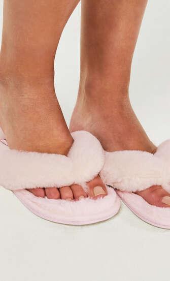 Zapatillas Fake Fur, Rosa