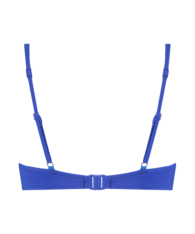 Top de bikini push-up Luxe Copa A - E, Azul, main