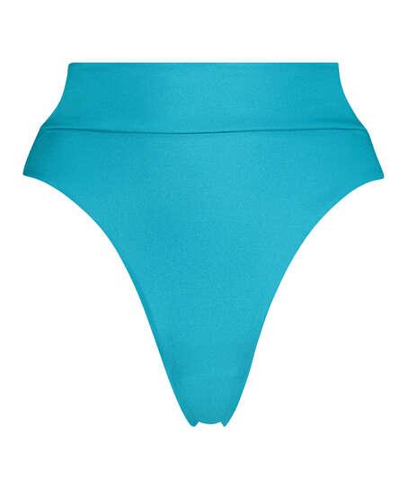 braguita de bikini de tiro alto Celine, Azul
