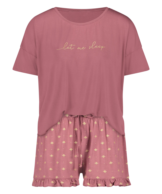 Conjunto de pijama corto, Rosa, main