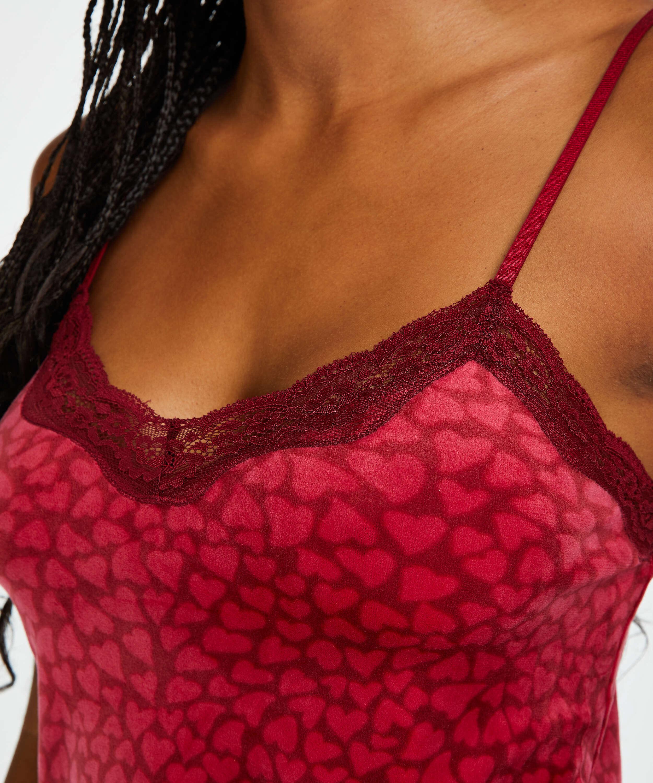 Camiseta Velours Lace, Rojo, main