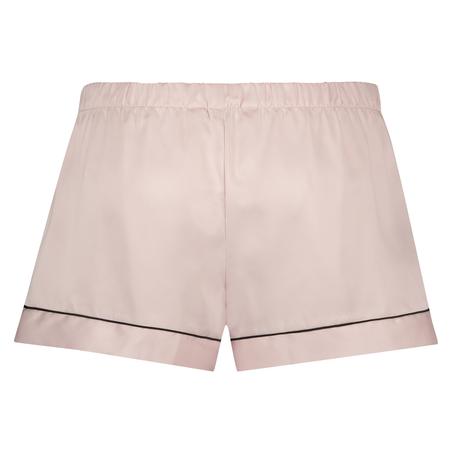 Pantalón corto de pijama satin lace, Rosa