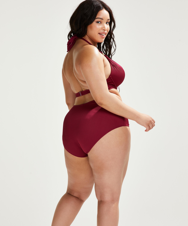 Braguita de bikini de corte alto Golden Rings, Rojo, main