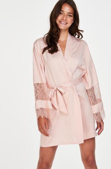 Hunkemöller Kimono de satén Bridal Rosa