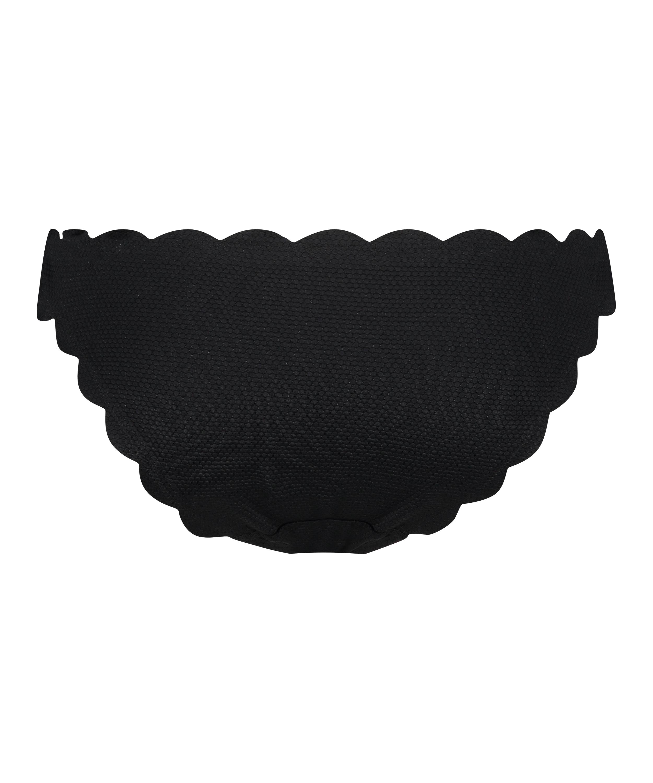 Braguita de bikini rio de corte bajo Scallop Glam, Negro, main