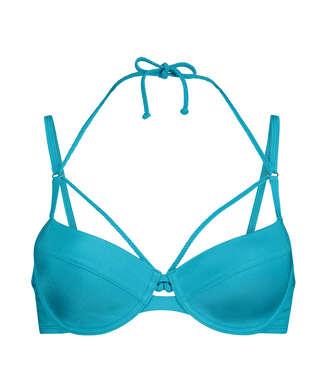 Top de bikini con aros preformado Celine, Azul