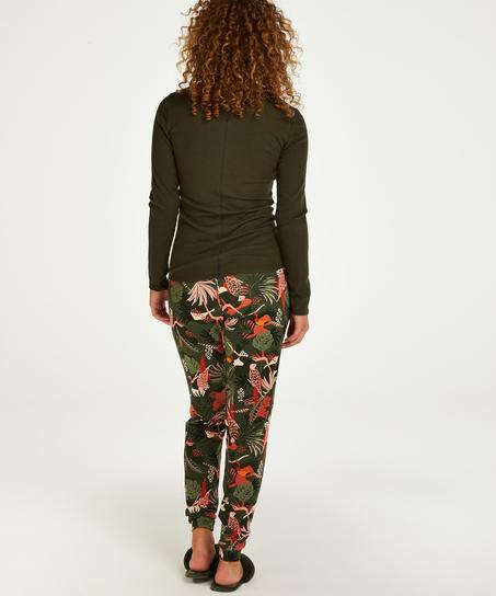 Top de pijama de manga larga, Verde