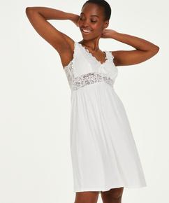 Vestido lencero Nora Lace, Blanco