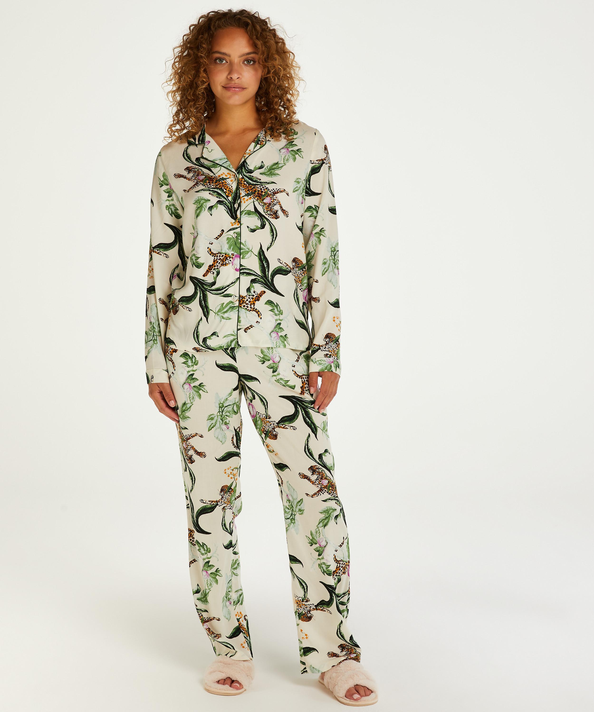 Pantalón de pijama tejido, Rosa, main