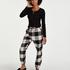 Pantalón de pijama Twill Check, Negro