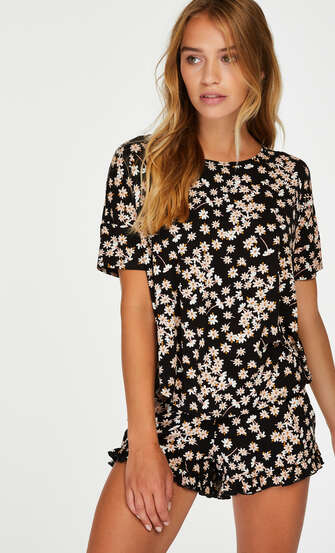 Conjunto de pijama corto, Negro