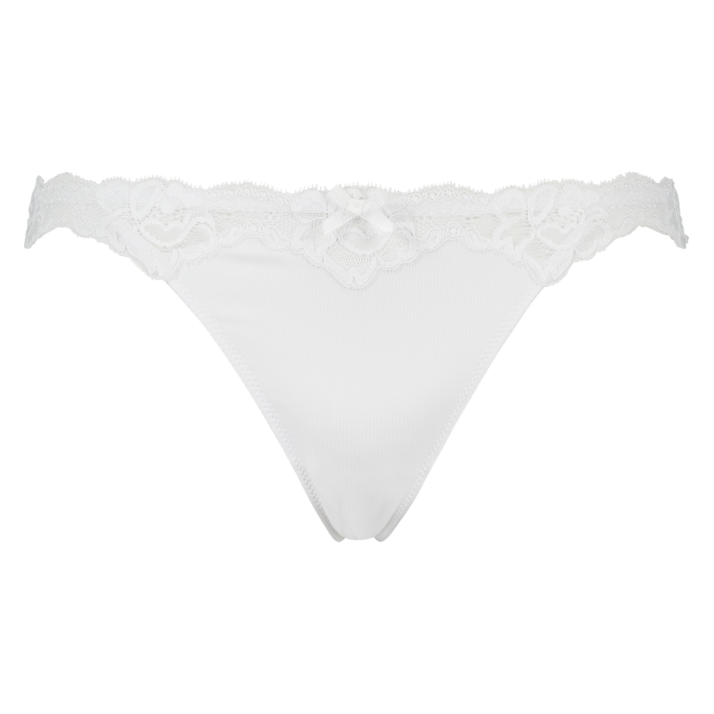Tanga Secret Lace, Blanco, main
