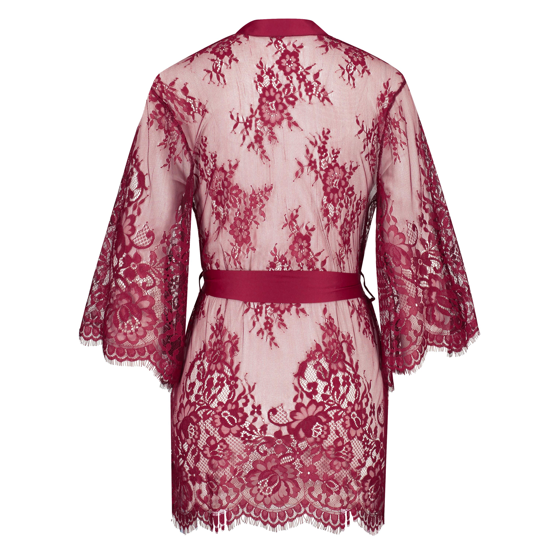 Kimono de encaje Isabelle, Rojo, main