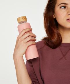Botella de agua de vidrio, Rosa