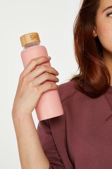 Hunkemöller Botella de agua de vidrio Rosa