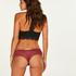 Brasileña en forma de V burn-out mesh, Rojo