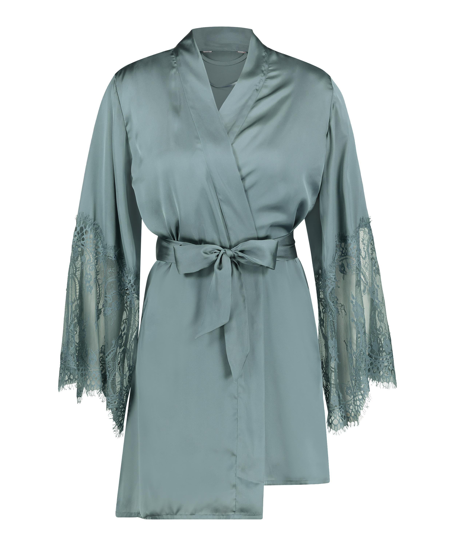 Kimono Satin, Verde, main
