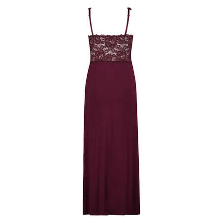 Vestido combinación largo Modal Lace, Rojo