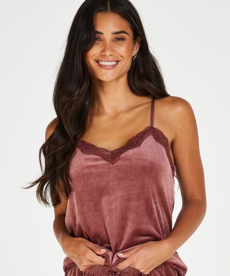 Camiseta Velours Lace, Rosa