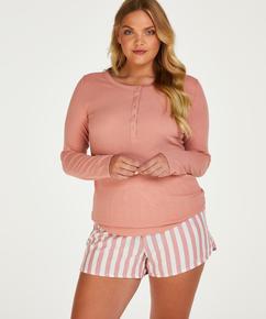 Top de pijama de manga larga, Rosa