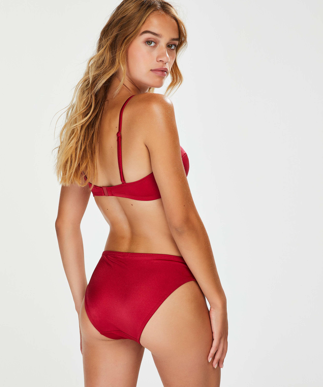 Top de bikini push-up con aros y preformado Lola, Rojo, main