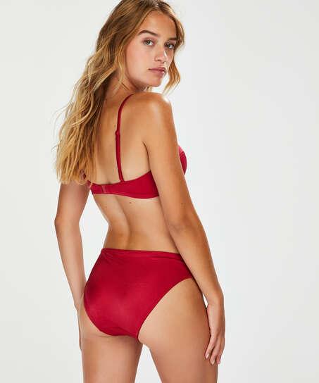 Top de bikini push-up con aros y preformado Lola, Rojo