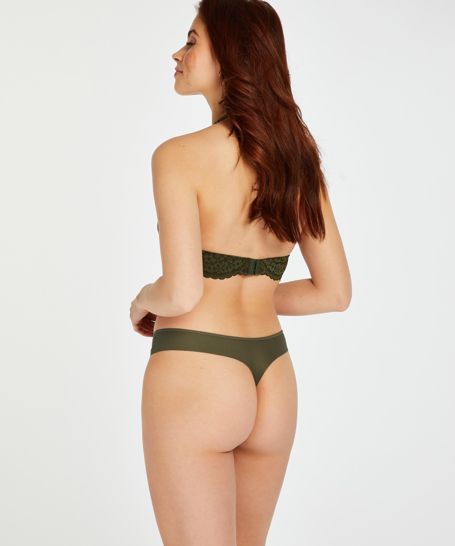 Tanga invisible Stripe mesh, Verde, main