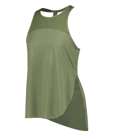 Camiseta sin mangas holgada de HKMX, Verde
