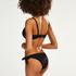 Pantaloncito de bikini atrevido Scallop Goddess, Negro