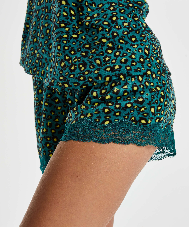 Pantalón corto de terciopelo y encaje Daisy, Gris, main