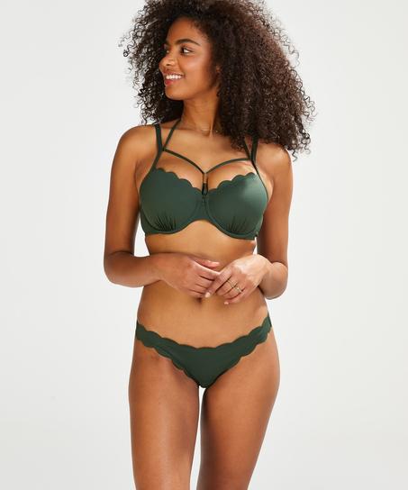 Braguita de bikini atrevida Scallop Glam, Verde