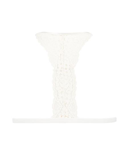 Bralette triangular preformado Rose, Blanco