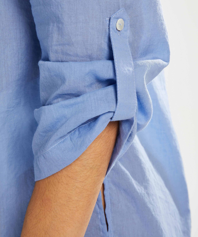 Blusa de playa, Azul, main
