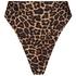 Braguita de bikini brasileña de corte alto Animal HKM x NA-KD, marrón
