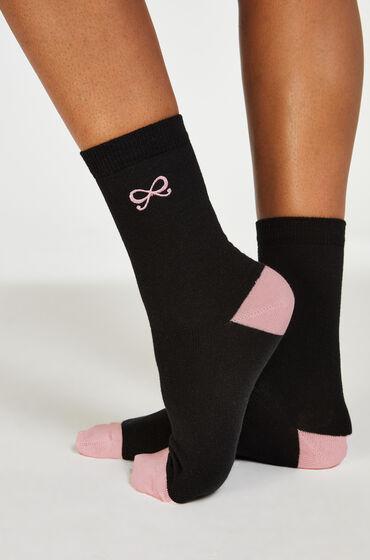 Hunkemöller 2 pares de calcetines Bow Negro