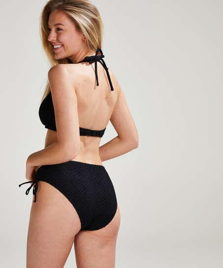 Crochet Bikini Top , Negro