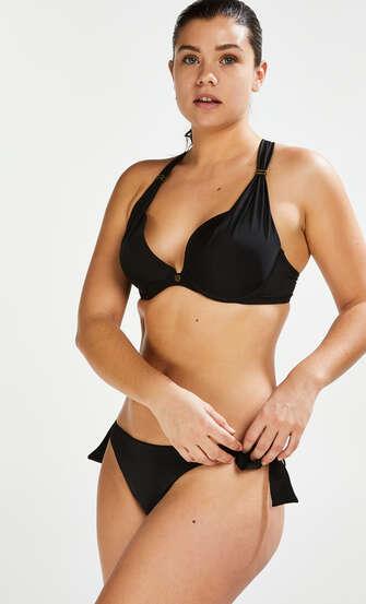 Braguita de bikini brasileña Sunset Dream, Negro