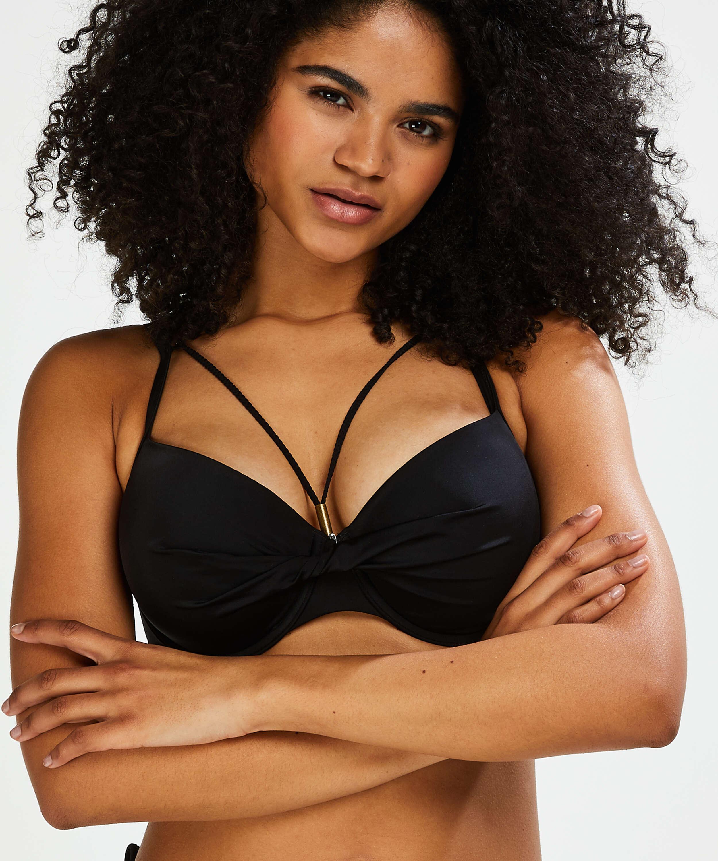 Top de bikini de aros preformado Sunset Dream, Negro, main