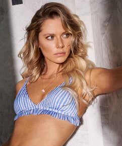 Top de bikini triangular Julia, Azul