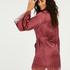 Kimono de satén meili, Rojo