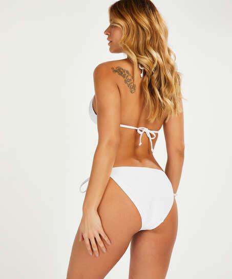 Top de bikini triángulo Remi Stitch, Blanco