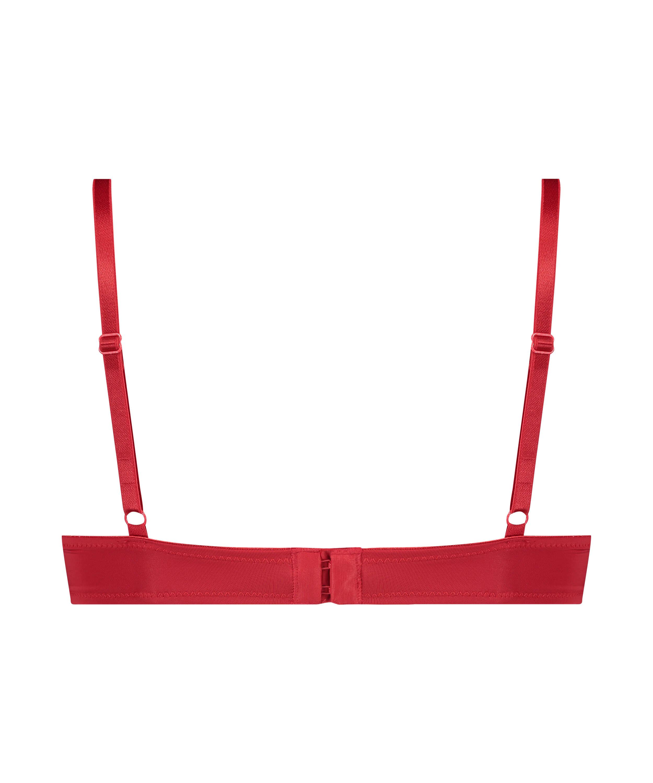 Sujetador de aros preformado Plunge, Rojo, main