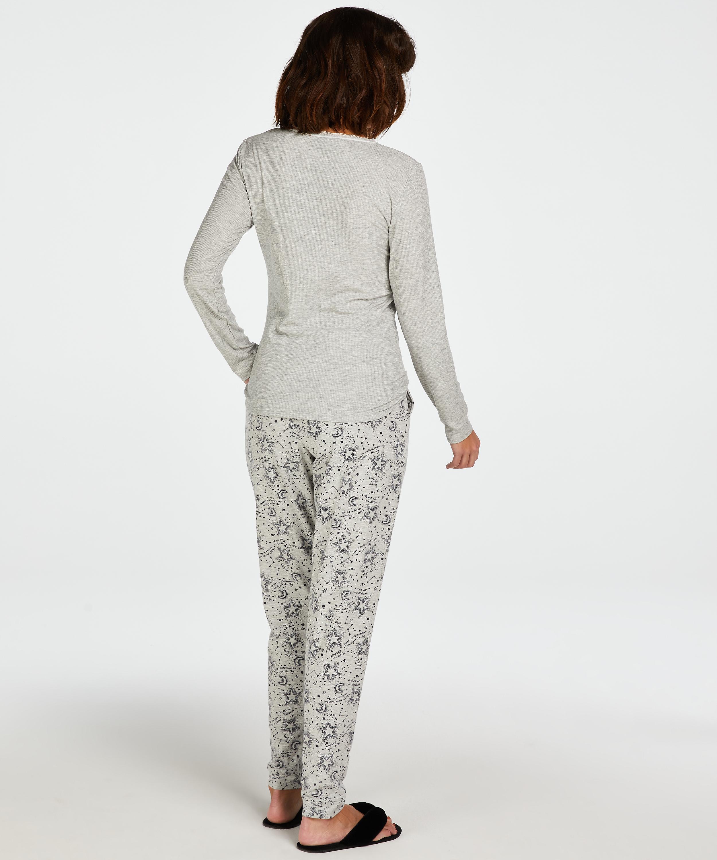 Pantalón de pijama de punto, Gris, main
