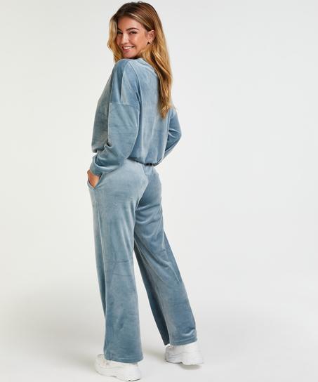 Pantalón de jogging Terciopelo, Azul