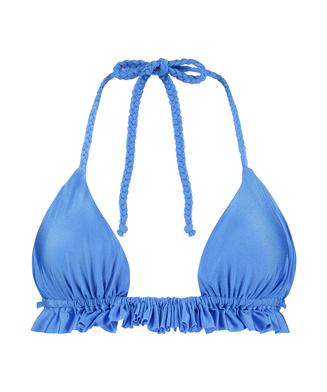 Top de bikini triangular Suze, Azul